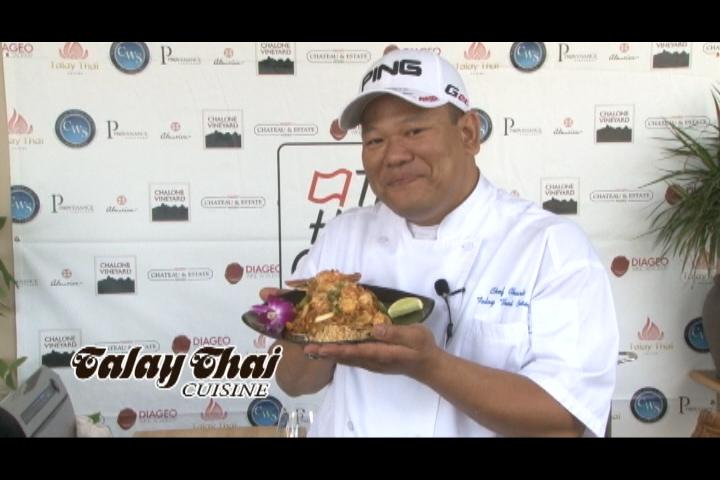 Chef Owner Charlie Soo prepares Lobster Pad Thai