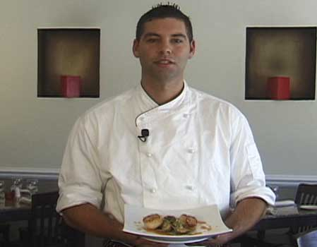 Chef Mike Panza Prepares his Scallop and Artichoke Appetizer